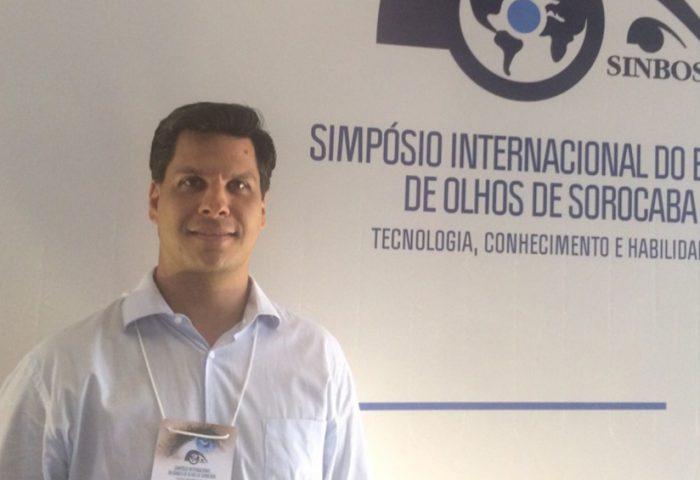 Dr. Victor A. Coronado Antunes ministra palestra no Simpósio Internacional do Banco de Olhos de Sorocaba (SINBOS)