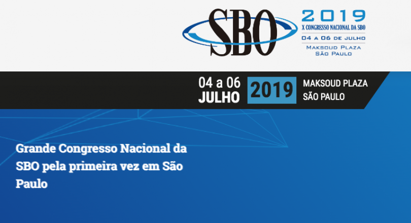 X Congresso Nacional da SBO 2019